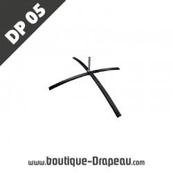 <h2>DP05Pied croisillons 84x64</h2> <p>Modèle de pied en croisillons utilisable avec drapeaux etoriflammes de toutes tailles.<br /> Adapté à une utilisation sur des surfaces planes, en intérieur ou en extérieur.</p>