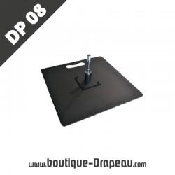 <h2>DP08Platine Métal 50x50</h2> <p>Socle en métal convenant à toustypes de voile publicitaire.<br />Montage simple nécessaire préalablement. Utilisation à adapter selon vos besoins.</p>
