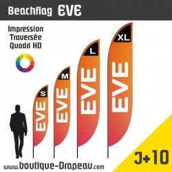 """<h2>Oriflamme : BeachflagEVE</h2> <p><strong>4 Hauteurs</strong></p> <h2>»S > 2,45m </h2> <h2>» M >3,05m </h2> <h2>» L > 4,06m </h2> <h2>» XL > 5,00m</h2> <p>LeBEACHFLAG personnalisé EVE est très apprécié pour sa forme originale et son prix très attractif. Impression sur une voile polyester 115gr. Pour vos événements cet oriflamme est facile à monter et à transporter.Cet Oriflammeexiste en 4 hauteurs. Maquette graphique est offerte ><a href=""""https://boutique-drapeau.com/content/6-creation-graphique"""">Profitez-en !</a></p>"""