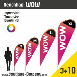 <h2>Oriflamme : BeachflagWOW - Top Originalité</h2> <p><strong>4 Hauteurs</strong></p> <h2>»S > 2,00m </h2> <h2>» M >2,62m </h2> <h2>» L > 3,30m </h2> <h2>» XL > 4,30m</h2> <p>LeBEACHFLAG WOW en forme de goutte est un drapeau publicitaire d'intérieur ou d'extérieur qui est très apprécié par les personnes souhaitant une forme différente. Cet Oriflamme, proposé en 4 tailles, est résistant, il est personnalisésur une voile polyester en sublimation.</p>