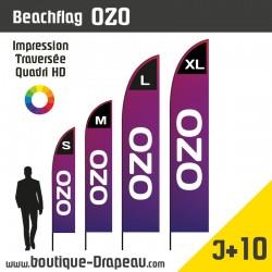 <h2>Oriflamme : BeachflagOZO - Top Vente</h2> <p><strong>4 Hauteurs</strong></p> <h2>»S > 2,45m </h2> <h2>» M >3,05m </h2> <h2>» L > 4,06m </h2> <h2>» XL > 5,00m</h2> <p>Le beachflag personnalisé OZO est le modèle Standard, le plus connu de toutes les voiles et l'un des plus appréciés de nos clients en raison de son importante surface d'impression et de sa forme courbée sur la partie haute de la voile. Ce modèle de drapeau est disponible en 4 Hauteurs.</p>