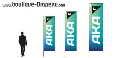 Beachflag publicitaire : AKA