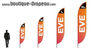 Windflag publicitaire : EVE