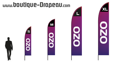 Windflag publicitaire 'OZO'