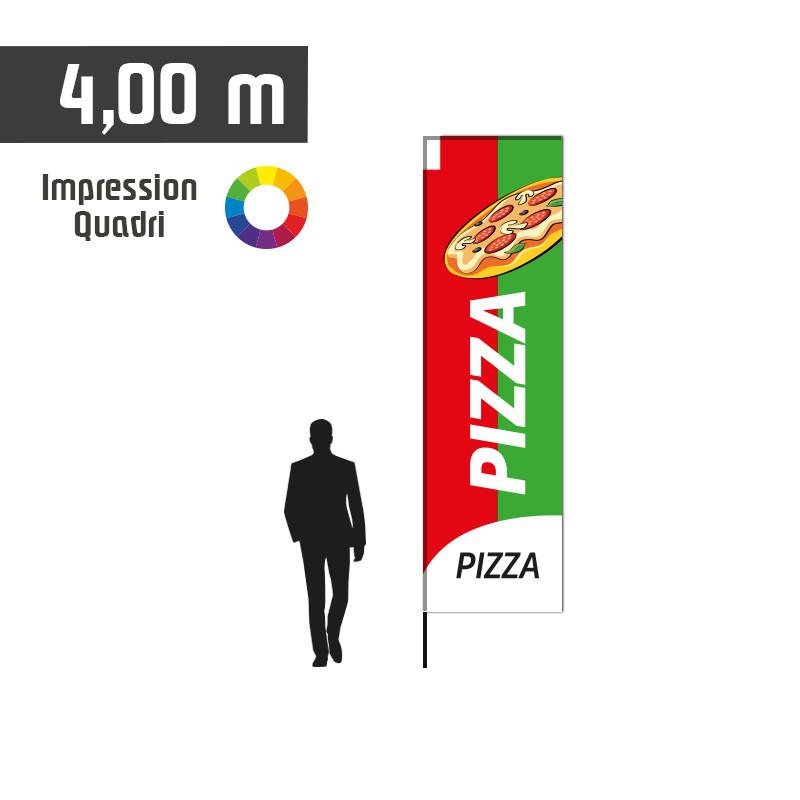 Oriflamme AKA Pizza taille L